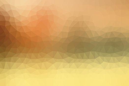 Warm Orange Low Poly Background