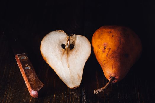 Golden Pear and Knife
