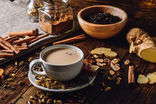Spiced Indian Tea with Milk