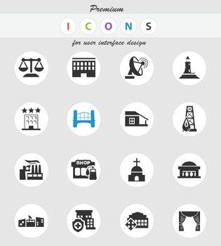 infrastructure icon set