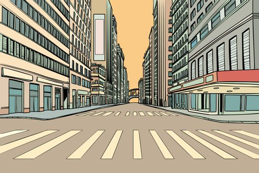 pedestrian crossing in the big city
