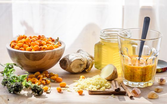 Ingredients for homemade mixture strengthens the immune system