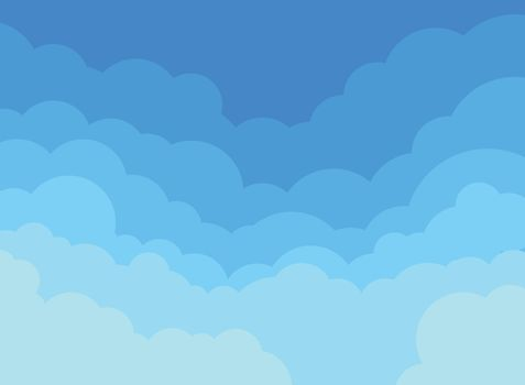 Paper clouds and blue sky background. Vector illustration
