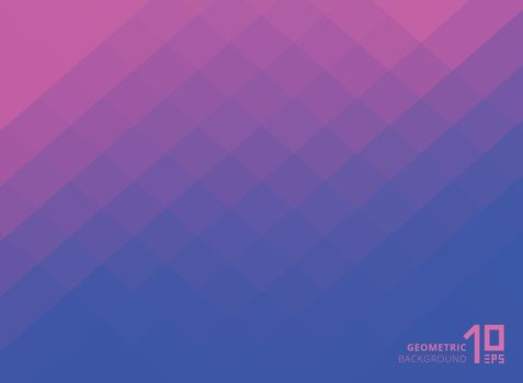 Abstract pink and blue gradient color squares pattern background with copy space. Vector Illustration