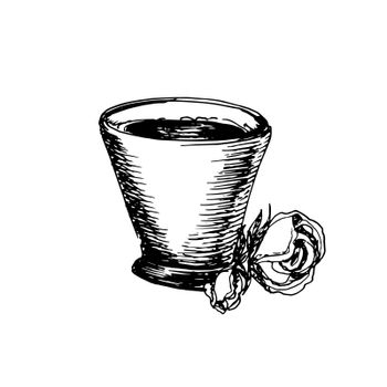Hand Drawn Sketch of Coffee Cup. Vintage Sketch. Great for Banner, Label, Poster
