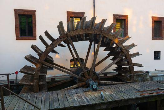 Wooden watermill in Prague
