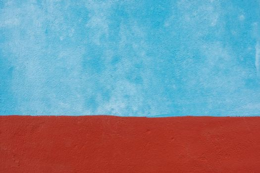 Blue and red cement wall texture