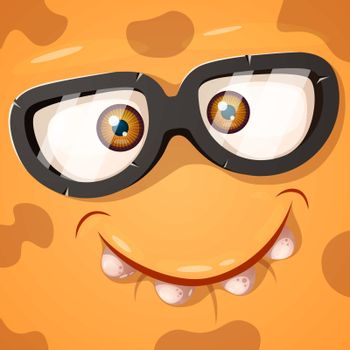 Cute, funny, crazy monster character. He is nowhere to be found illustration. Printing on T-shirts. Vector eps 10