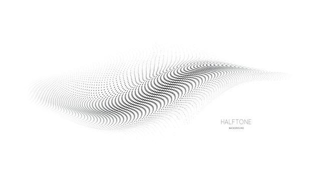 3d mesh halftone background illustration on white