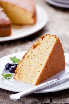 Piece Of Vanilla Cake