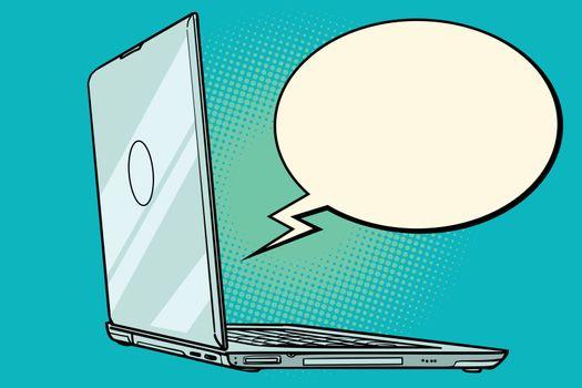 laptop comic book bubble