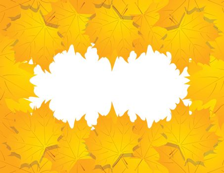 Happy Halloween background with leaves. vector. autumn