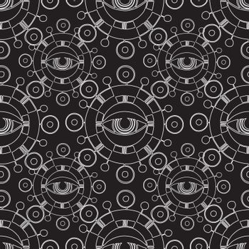 seamless pattern with abstract . vector. black and white
