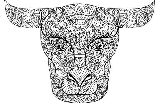 Taurus Bull Head Mandala