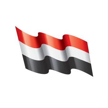 Yemeni flag, vector illustration
