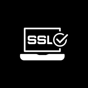 SSL Certified Protection Icon. Flat Design Isolated Illustration.