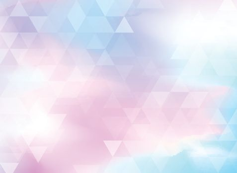 Abstract colorful triangles pattern on holographic foil background. Geometric hologram background. Vector illustration