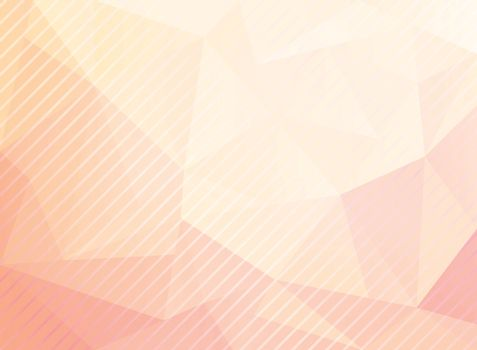 Abstract low poly triangles pattern with diagonal lines texture on pastels color background. Geometric vector illustration