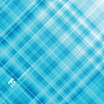 Abstract light blue technology background. Digital fractal pattern. Blurred texture with glass effect. Vector illustration
