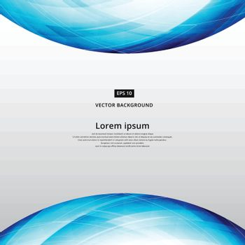 abstract blue square lines world curve footer header template ve