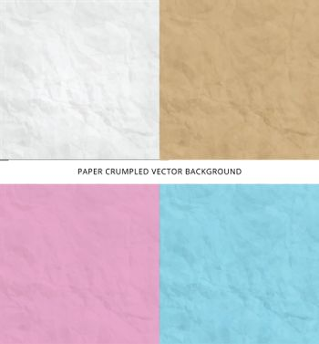 set of Texture of pink blue brown white crumpled paper background  Vector illustration for print ad, magazine, brochure, leaflet