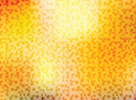 Abstract autumn background with triangles pattern shining bright red, yellow and orange color. Vector illustration