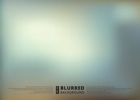 Abstract blue blur unfocused style background, blurred wallpaper design , vector illustration