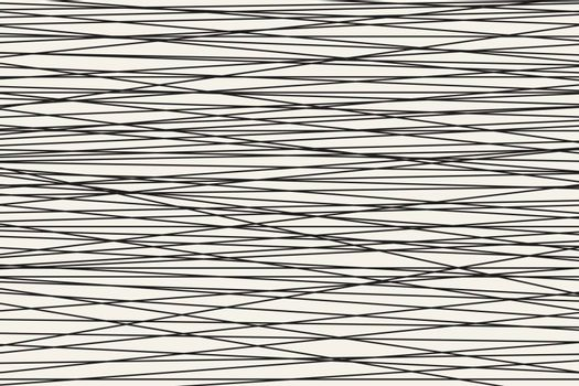 Black and white Abstract horizontal striped pattern. Vector illustration.