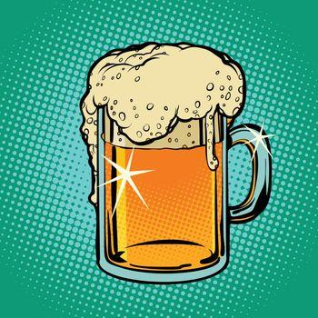 Mug of beer. Alcoholic beverage