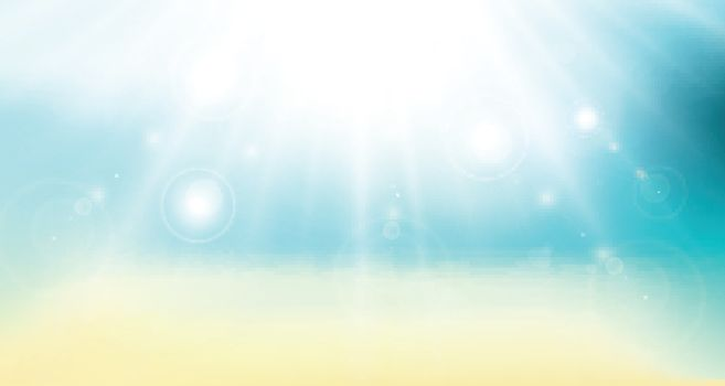 abstract gradient backdrop. panorama beach sea and sunlight. sunny vector background travel poster.