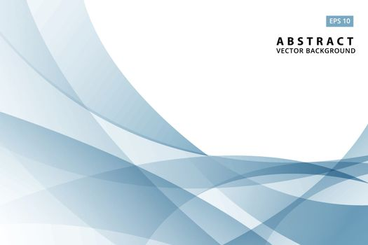 abstract vector illustration of modern light blue wave element and background copy space