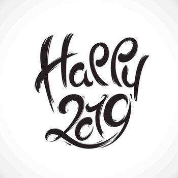 New Year greeting card. 2019 year