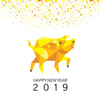 Chinese Year of The Pig Greeting Card