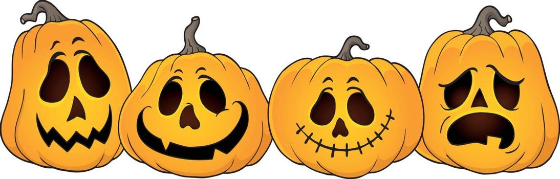 Halloween pumpkins thematics image 1 - eps10 vector illustration.