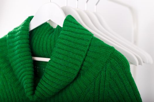 Warm knitted autumn winter dress