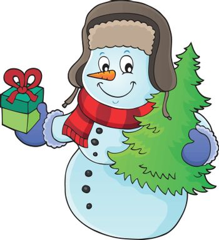 Christmas snowman subject image 1