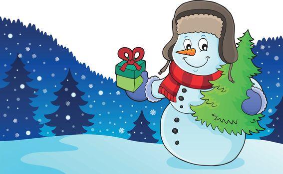 Christmas snowman subject image 2