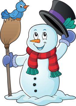 Winter snowman subject image 1