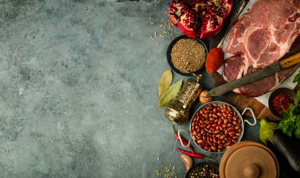 Middle eastern or arabic tradition ingredients