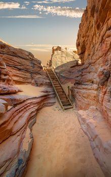Canyon in desert