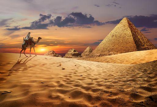 Egyptian evening landscape