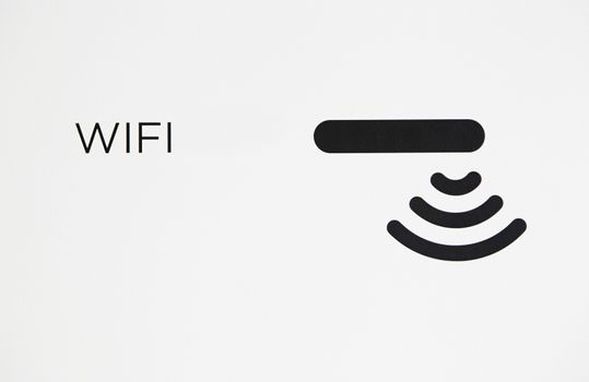 Wifi signal, detail of a wireless interner information signal