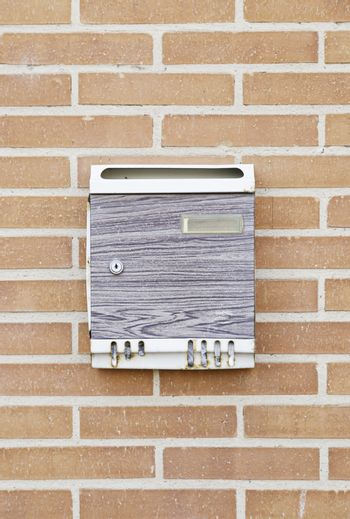 Mailbox in the wall, detail of an object to cast cards
