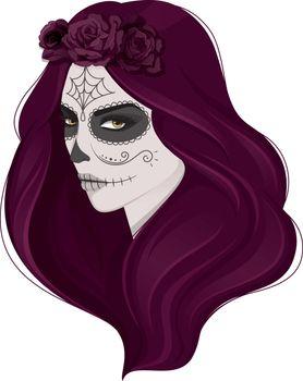 Vector illustration of Dead woman