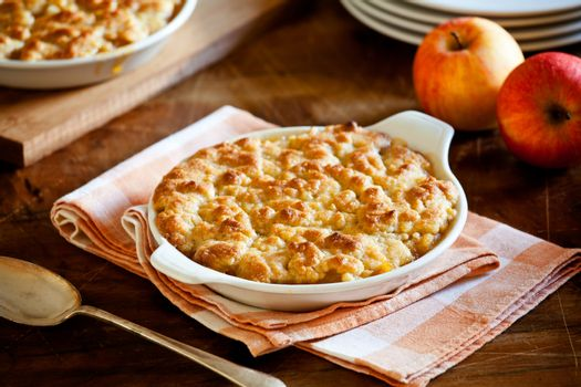 Homemade Crumble With Apples