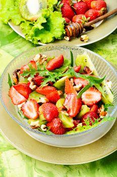 Vitamin salad with strawberry