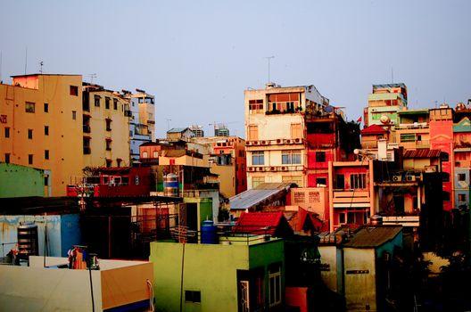 Buildings in Ho Chi Minh City, Vietnam