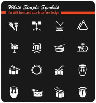 rhythm instruments icon set