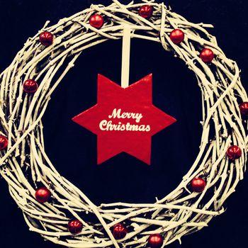 christmas wreath. photo