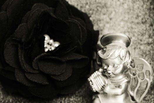 Vintage rose. photo. black and white